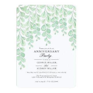 Garten-Rebe| Watercolor-Jahrestags-Party laden ein 12,7 X 17,8 Cm Einladungskarte