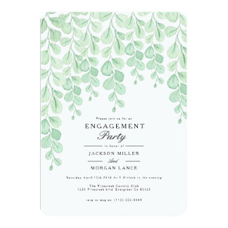 Garten-Rebe| Watercolor-Verlobungs-Party laden ein 12,7 X 17,8 Cm Einladungskarte