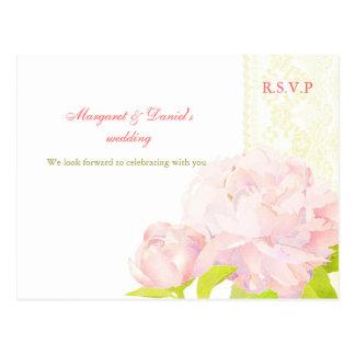 Garten-Rosa-Pfingstrosen-Blumenhochzeit UAWG Postkarten