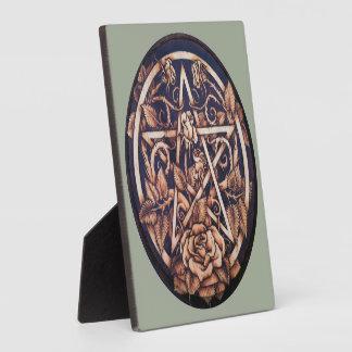 """Garten-Rosen-Pentagramm 5,25"""""""" Plakette des Fotoplatte"""
