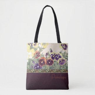 Garten-Veilchen-Entwurfs-Taschen-Tasche Tasche