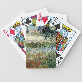 Garten Vincent van Goghs   in der Blüte, Arles, Bicycle Spielkarten