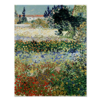 Garten Vincent van Goghs   in der Blüte, Arles, Poster