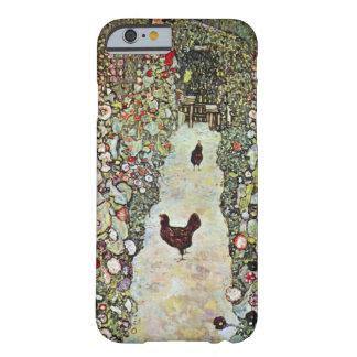 Garten-Weg mit Hühnern, Klimt, Kunst Nouveau Barely There iPhone 6 Hülle