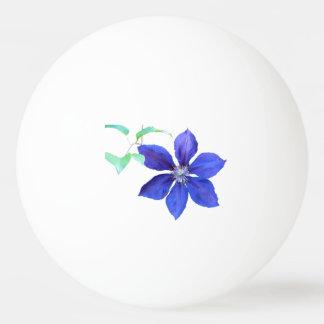 Gartenfrische lila Clematis-Blumen Tischtennis Ball
