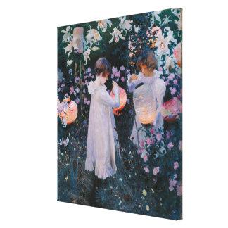 Gartennelken-Lilien-Lilien-Rose Johns Sargent Leinwanddruck