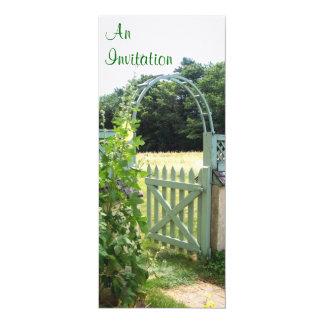 Gartentor-Einladung Karte
