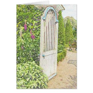 Gartentor-Entwurfs-Gruß-Karte oder Einladung