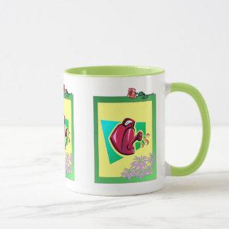 Gärtner-Freude, rotes wateringcan Tasse