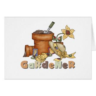 Gärtner Grußkarte