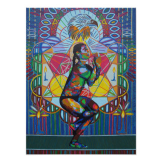 Garudasana - 2011 as canvas / poster