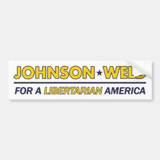 Gary Johnson/Schweißungs-Liberalist-Autoaufkleber Autoaufkleber