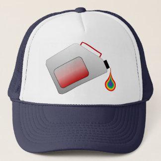 Gas-Behälter mit Regenbogen-Tropfen Truckerkappe