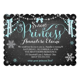 GASCHROMATOGRAPHIE blaue Schnee-Prinzessin mit 12,7 X 17,8 Cm Einladungskarte