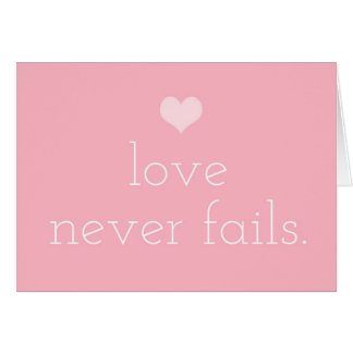 GASCHROMATOGRAPHIE Liebe versagt nie Valentine Karte