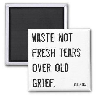 Gaspillez l'aimant non frais de citation de larmes magnet carré