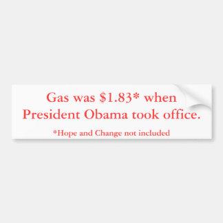 Gaspreise Präsidenten-Obama Autoaufkleber