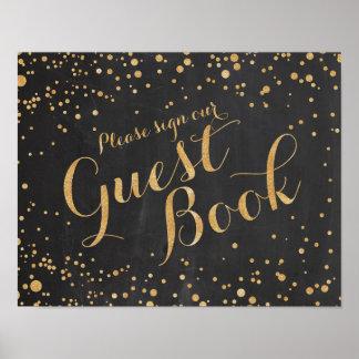 Gast-Buch-Hochzeits-Zeichen Poster