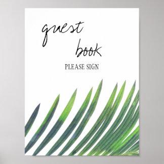 Gast-Buch-Zeichen - Grün-Hochzeit Poster