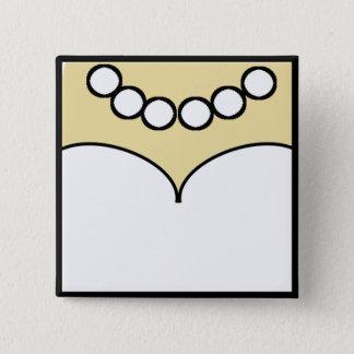 Gast-Identifizierungs-Flair Quadratischer Button 5,1 Cm