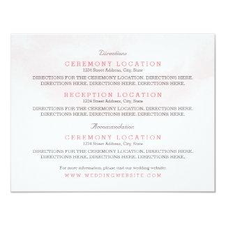 Gast-Informations-Karten   erröten und Blüte 10,8 X 14 Cm Einladungskarte