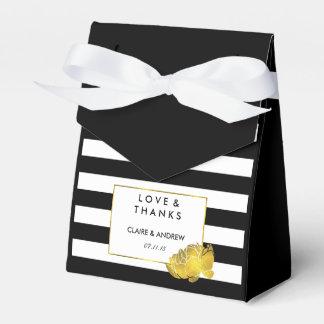 Gastgeschenk Hochzeit packt | schwarzen Streifen Geschenkkarton
