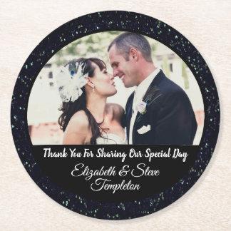 Gastgeschenk Hochzeits-Foto-Untersetzer Runder Pappuntersetzer