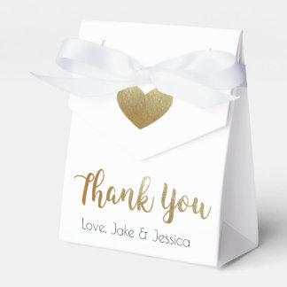 Gastgeschenk Hochzeits-Kasten mit Gold danken Geschenkschachtel