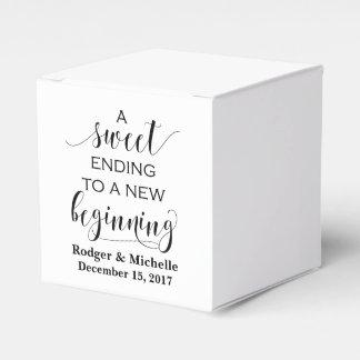 Gastgeschenk Hochzeits-Kasten - süßes Ende zum Geschenkschachtel