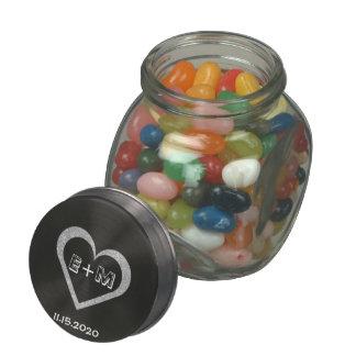 Gastgeschenk Hochzeits-Tafel-Herz-Süßigkeits-Glas Bonbonniere