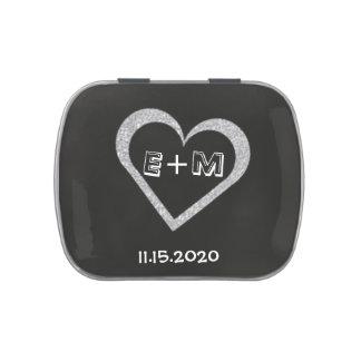 Gastgeschenk Hochzeits-Tafel-Herz-Süßigkeits-Zinn Vorratsdose