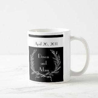Gastgeschenk Hochzeits-Tassen-Schwarzweiss-Reihe Tasse