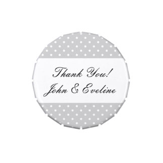 Gastgeschenk Hochzeitssüßigkeitszinn mit Vorratsdose