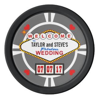 Gastgeschenk Hochzeitvegas-Kasino-Poker-Chips Poker Chips Set