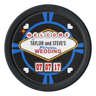 Gastgeschenk Hochzeitvegas-Kasino-Poker-Chips Pokerchips