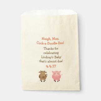 Gastgeschenk-Taschen mit Vieh - Baby-Dusche Geschenktütchen