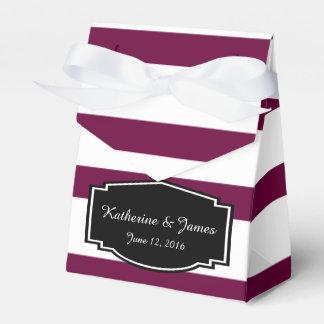 Gastgeschenke Hochzeit; Kastanienbraunes Weiß Geschenkschachteln