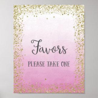 Gastgeschenke Hochzeits-Plakat-Druck Poster