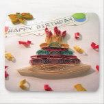 Gâteau d'anniversaire de Quilling Tapis De Souris