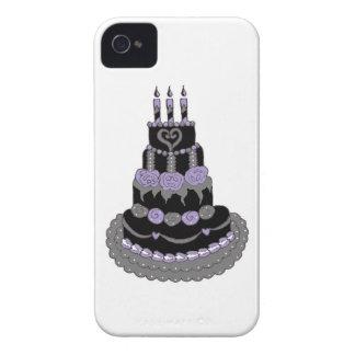 Gâteau d'anniversaire pourpre gothique étuis iPhone 4