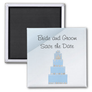 Gâteau de mariage de bleus layette aimant