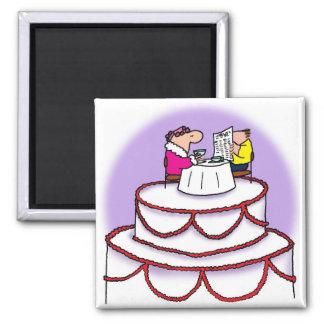 Gâteau de mariage aimant