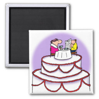 Gâteau de mariage magnet carré