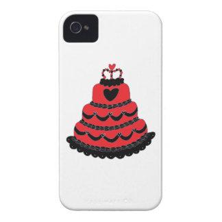 Gâteau gothique de coeurs rouges étuis iPhone 4