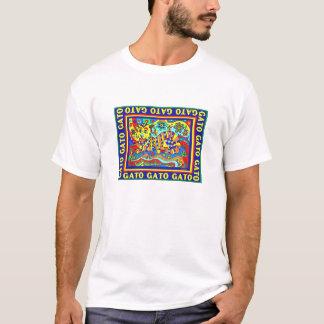 """Gato"" bunter Entwurf durch David T-Shirt"