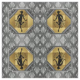 Gatsby Prallplatten-Kunst-Deko-Gewebe Stoff