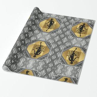 Gatsby Prallplatten-Kunst-Deko-Verpackungs-Papier Geschenkpapier