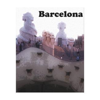 "Gaudi Casa Milà ""La Pedrera"" Barcelona Leinwanddruck"