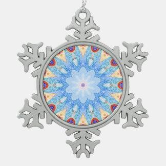 Gaudi Fliesenmuster Schneeflocken Zinn-Ornament