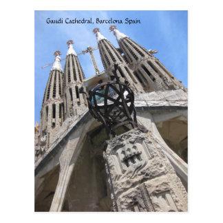 Gaudi Kathedrale, Postkarte Barcelonas Spanien